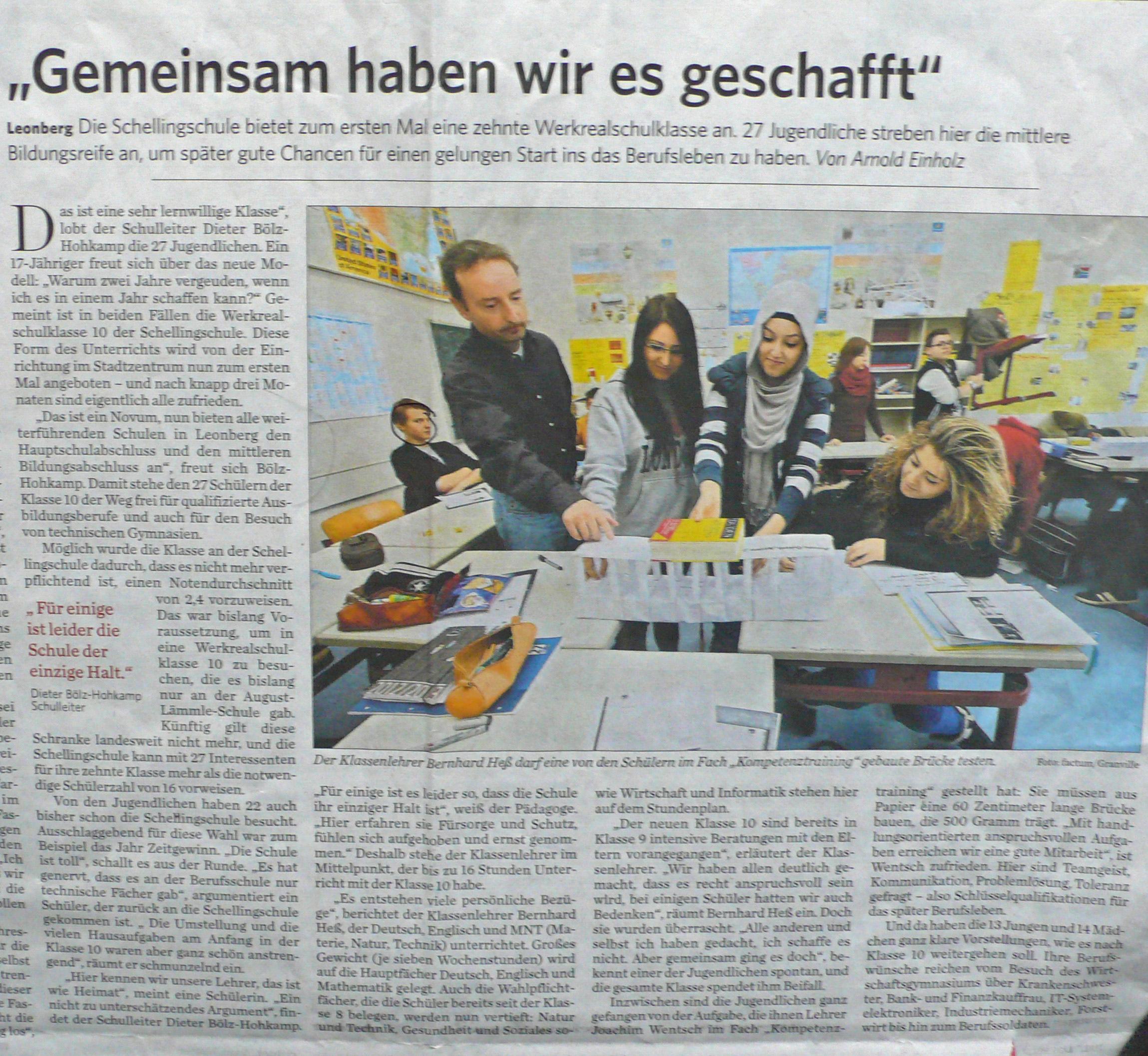 Zeitungsbericht 3